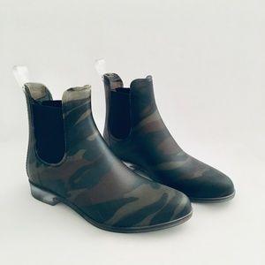 J.Crew Matte Olive Camo Rain Boots